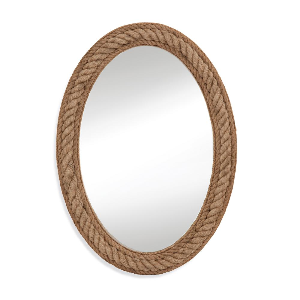 BASSETT MIRROR COMPANY Rope Decorative Wall Mirror Our Rope wall mirror features a jute rope finish and a classic oval shape. This piece is the perfect addition for any nautically themed space or any room fostering a natural feel. Great for small space.