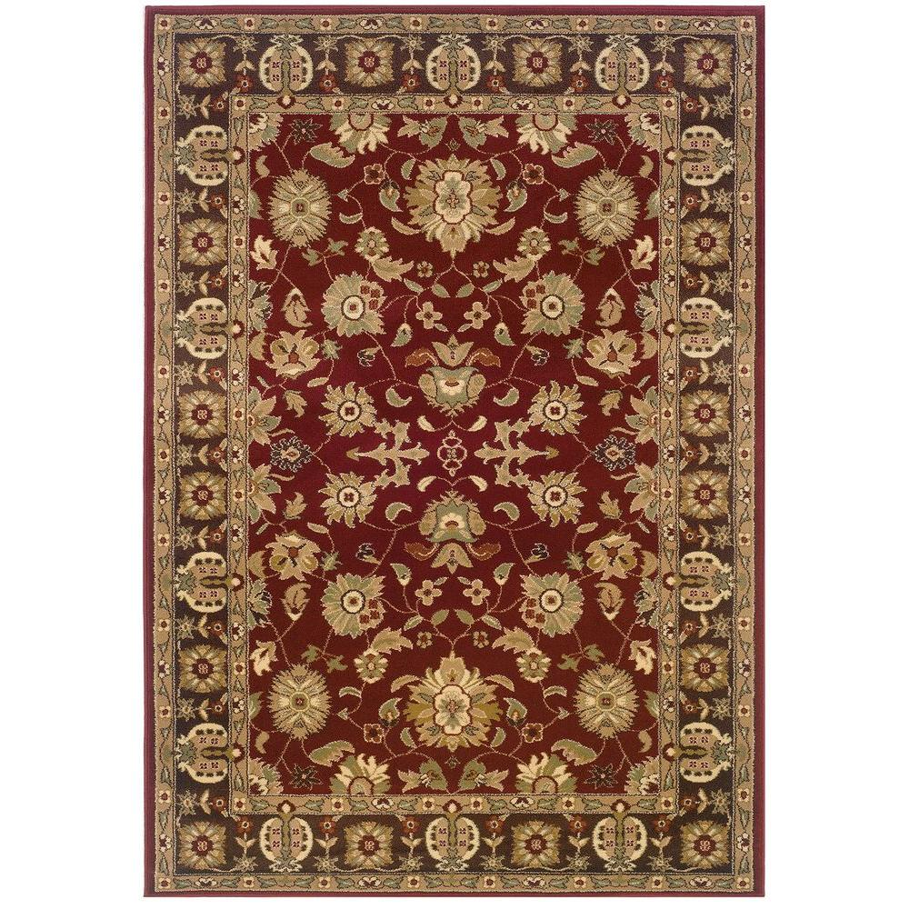 LR Resources Traditional Red and Brown Rug Runner 1 ft. 10 in. x 7 ft. 1 in. Plush Indoor Area Rug
