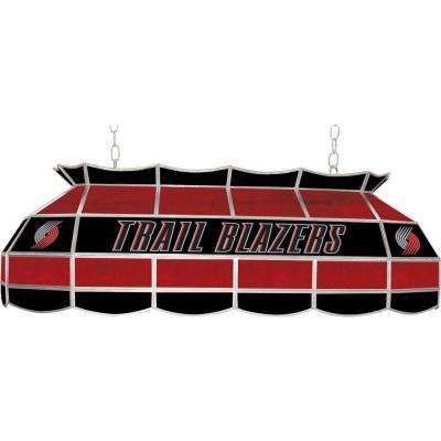 NBA Portland Trail Blazers NBA 3-Light Stained Glass Hanging Tiffany Lamp