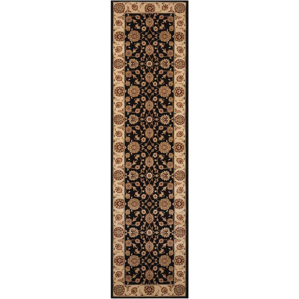 Persian Crown Suret Black 2 ft. x 8 ft. Runner Rug