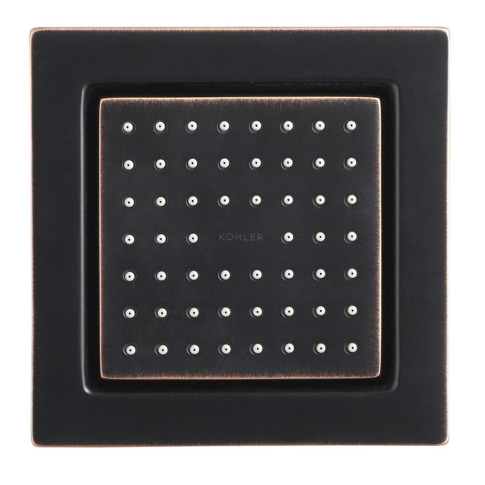 KOHLER WaterTile Square 54-Nozzle Single-Function 4-7/8 in. Raincan Body Spray in Oil Rubbed Bronze-DISCONTINUED