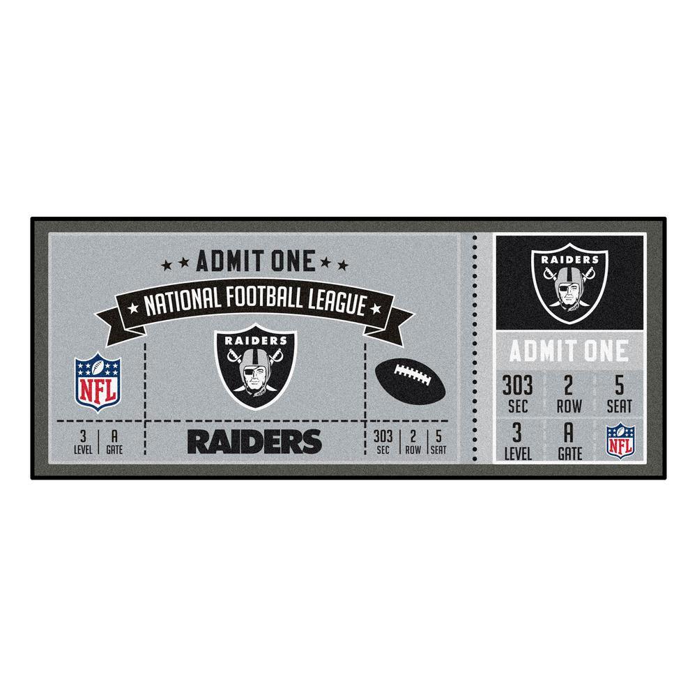 NFL - Oakland Raiders 30 in. x 72 in. Indoor Ticket Runner Rug