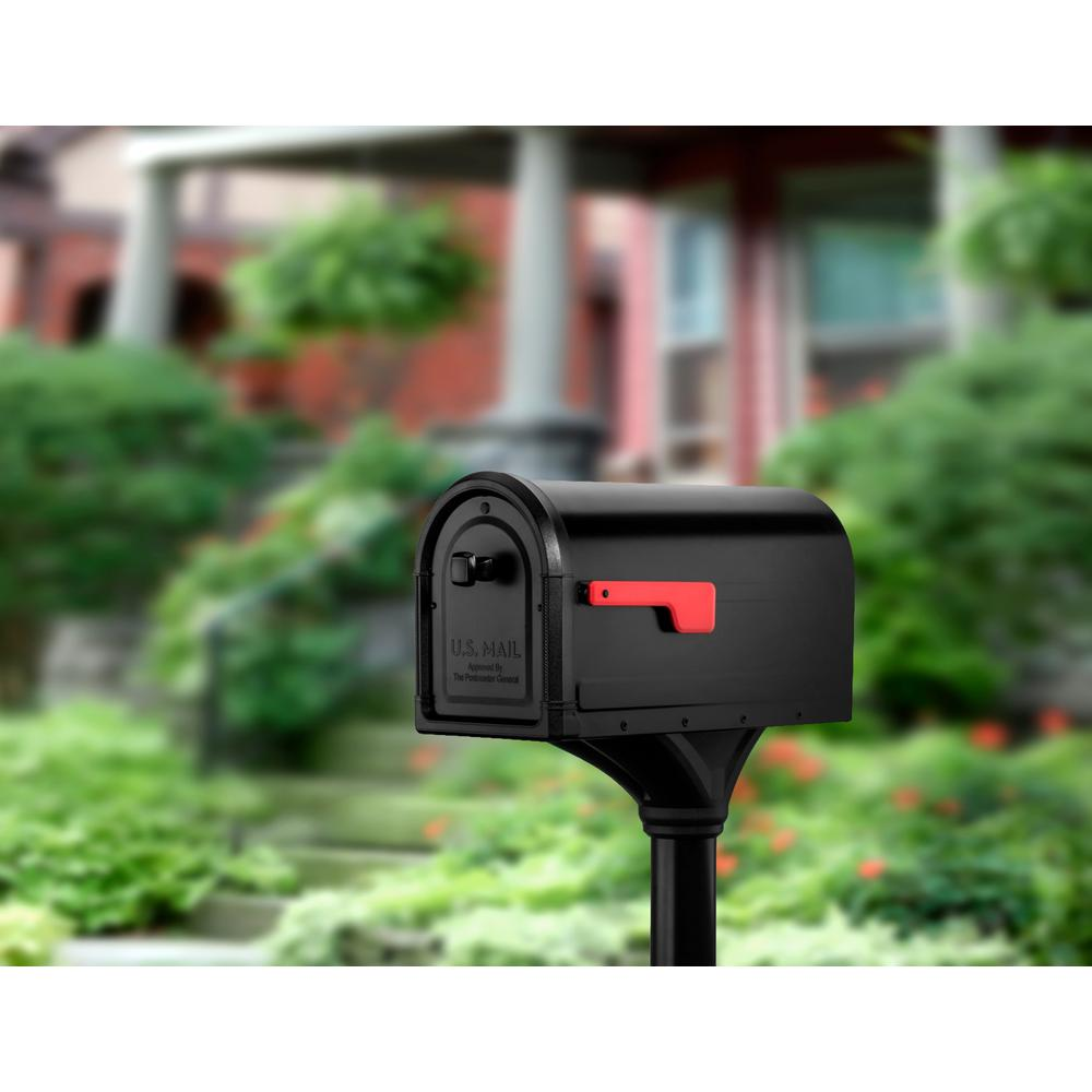 Post Mount Mailbox Premium Steel Post Combo Kit All In One Decorative Mail Box