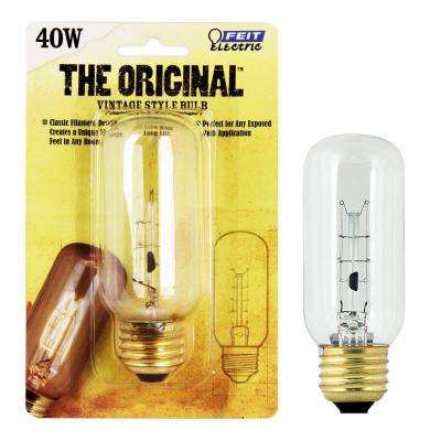 40W Soft White T12 Dimmable Incandescent Antique Edison Amber Glass Filament Vintage Style Light Bulb (24-Pack)