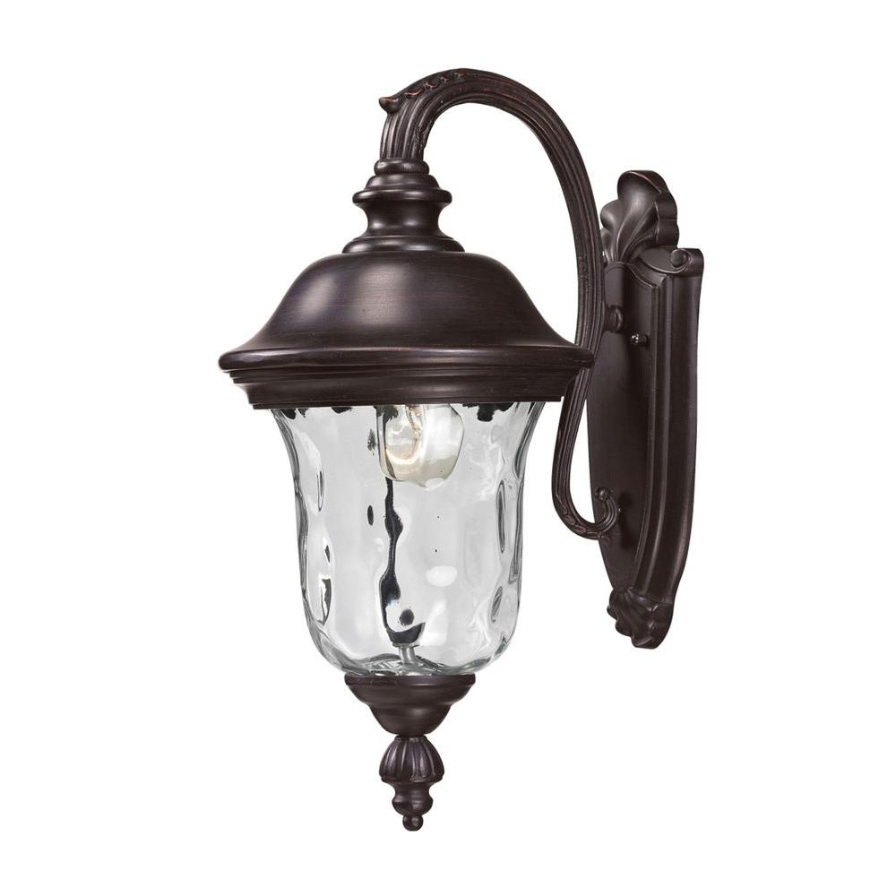 Outdoor Wall Lights Types: Lithonia Lighting Bronze Metal-Halide Outdoor Wall-Mount