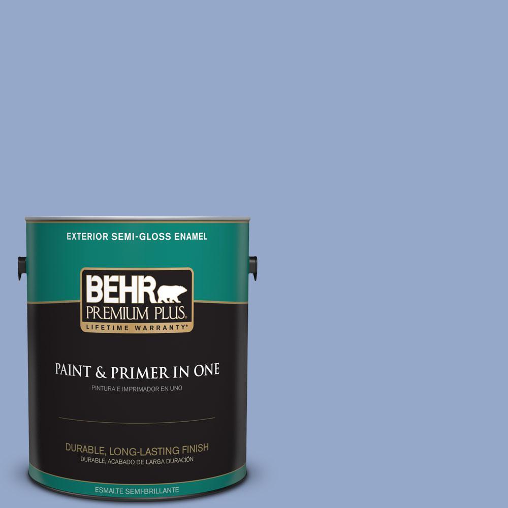 BEHR Premium Plus 1-gal. #600D-4 Finesse Semi-Gloss Enamel Exterior Paint