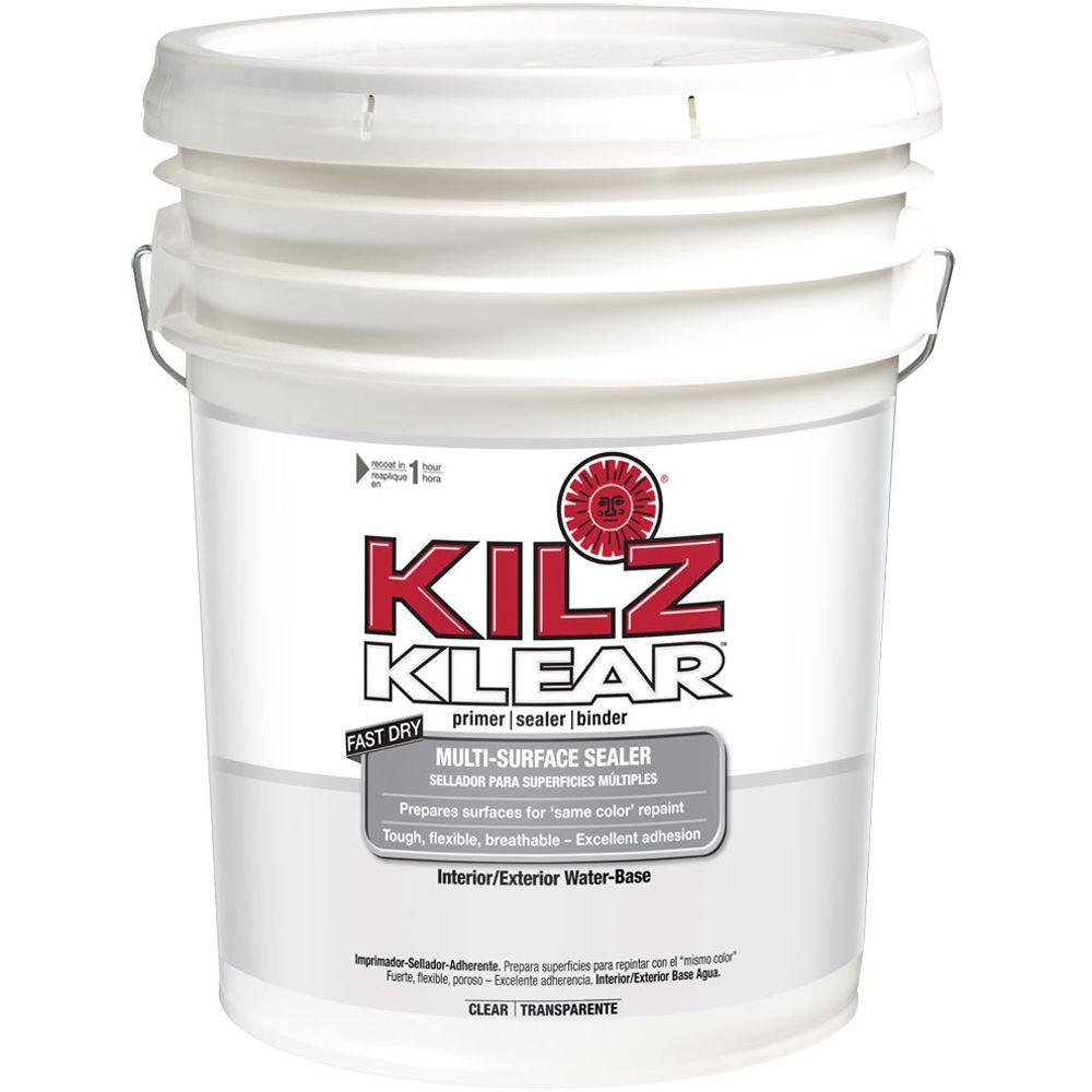 KILZ KLEAR 5-gal. Water-Based Multi-Surface Interior/Exterior Primer and Sealer