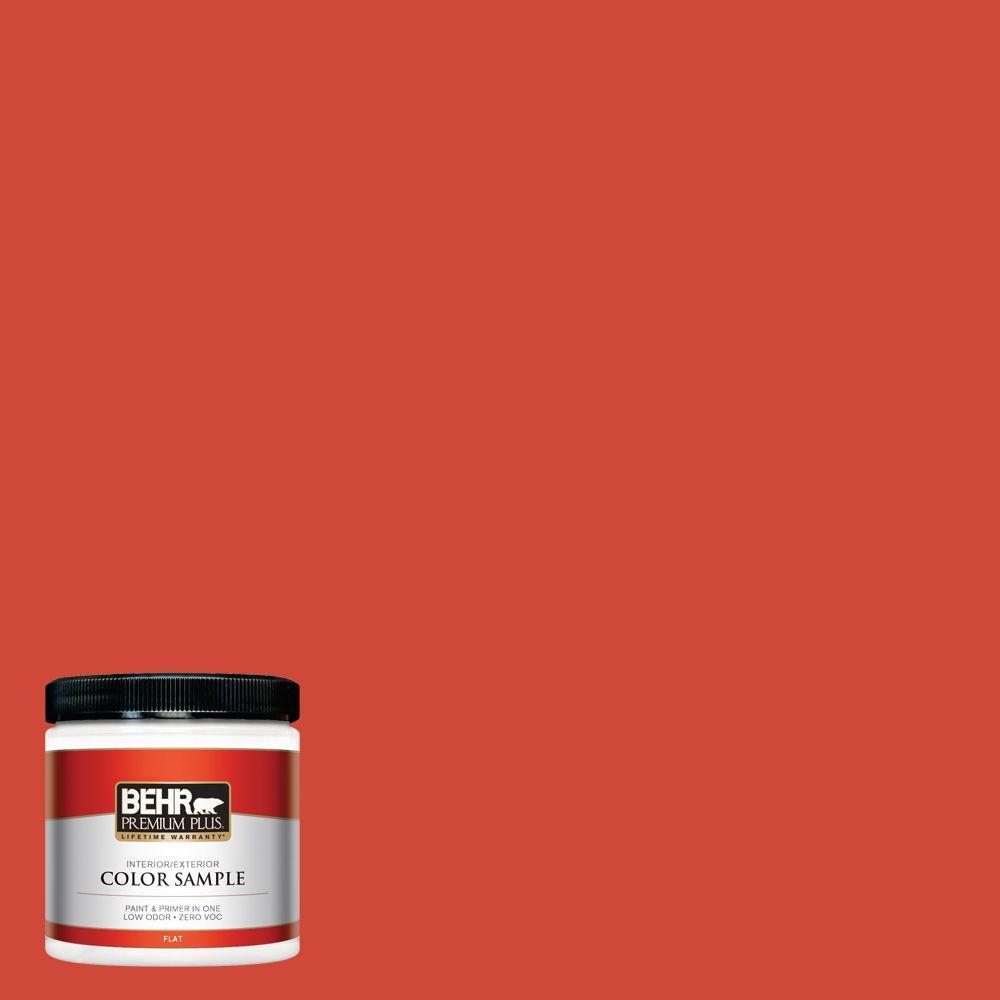 8 oz. #P180-7 Top Tomato Interior/Exterior Paint Sample
