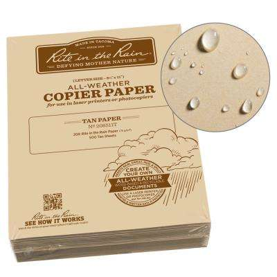All-Weather 8-1/2 in. x 11 in. 20 lbs. Bulk Copier Paper, Tan (500-Sheet Pack)
