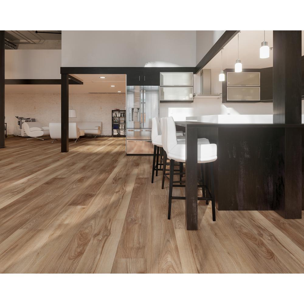 Montserrat Victorum Lithe Sequoia 7 In W X 60 In L Spc Vinyl Plank Flooring 24 08 Sq Ft Mnst 2019073 The Home Depot