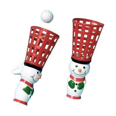 Snowman Christmas Pop and Catch Game (3-Count 4-Pack)