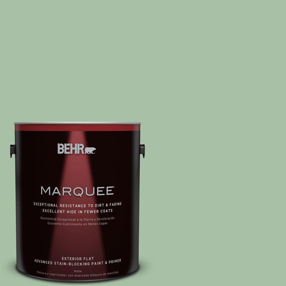 BEHR MARQUEE 1-gal. #S400-4 Azalea Leaf Flat Exterior Paint