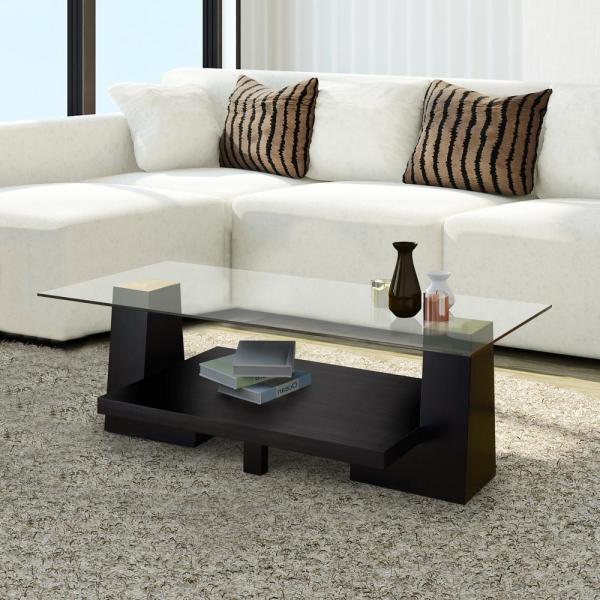 Furniture Of America Senna Black Glass Coffee Table 28221ct The
