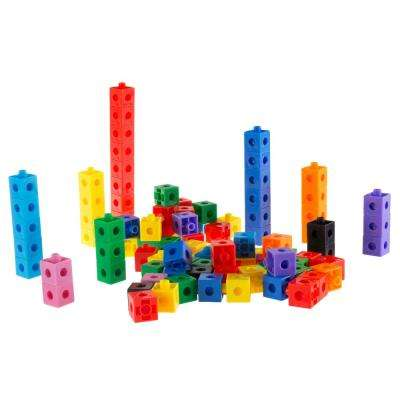 Building Block Learning Snap Cubes (100-Piece)