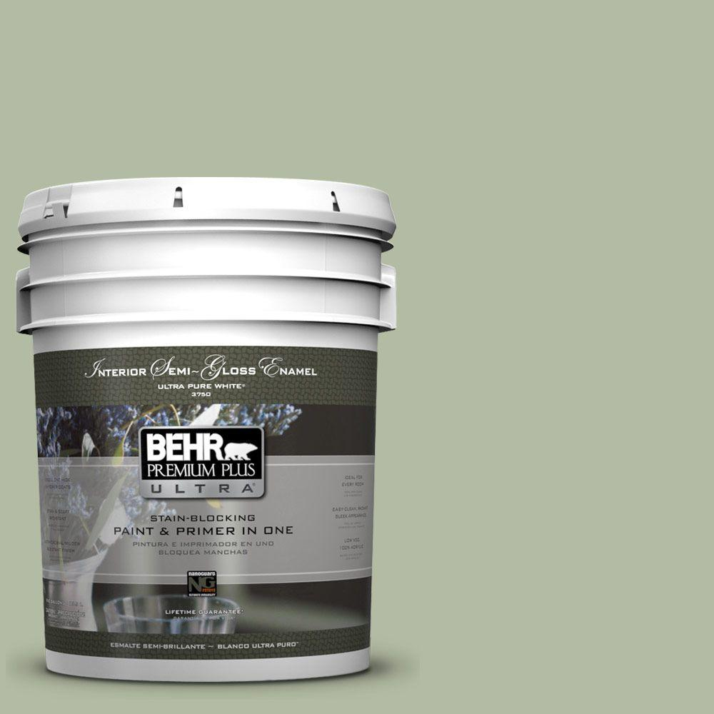 5-gal. #ICC-105 Dried Chervil Semi-Gloss Enamel Interior Paint