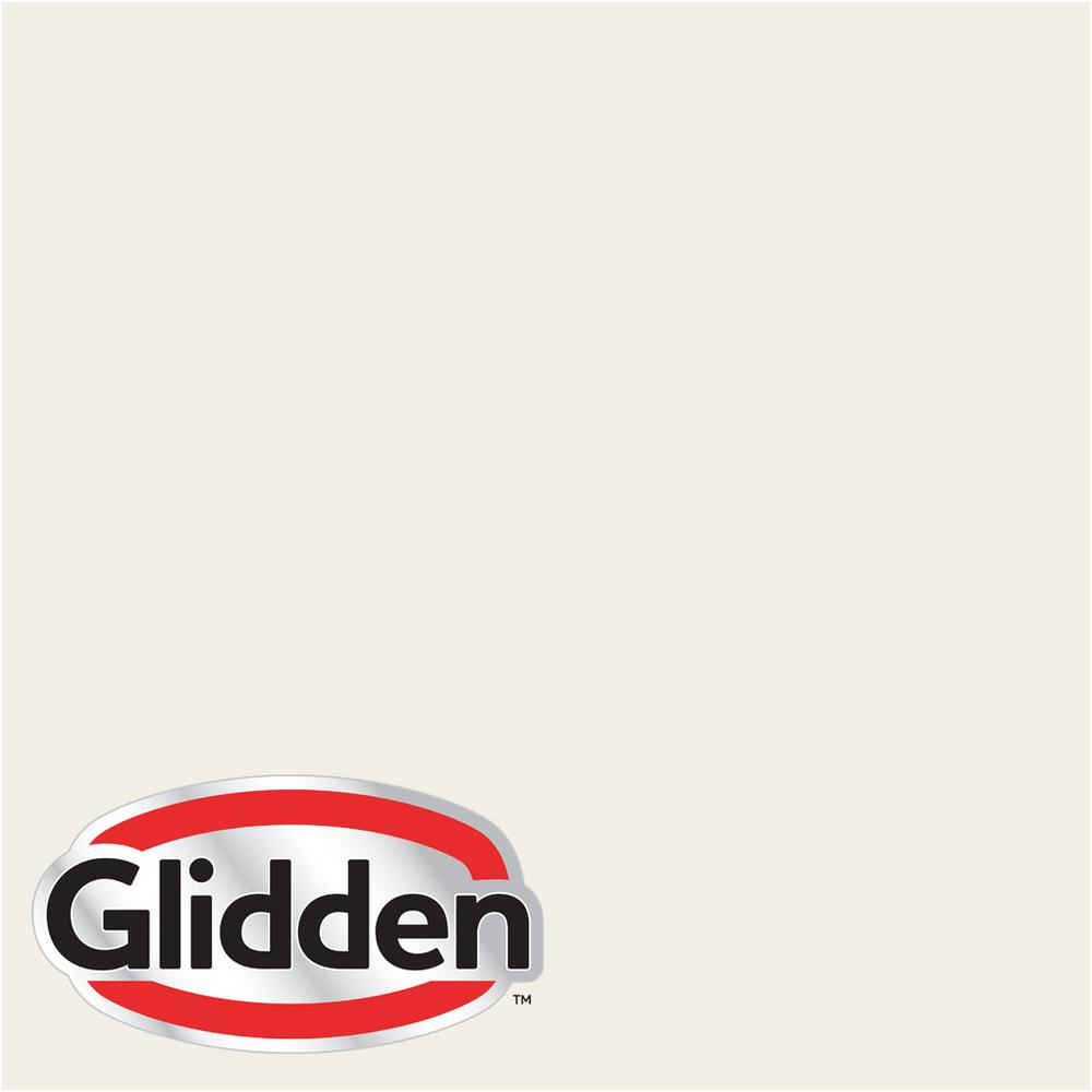 Glidden Premium 1 gal. #HDGWN30U Fencepost White Satin Interior Paint with Primer