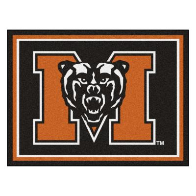 NCAA - Mercer University Black 10 ft. x 8 ft. Indoor Rectangle Area Rug