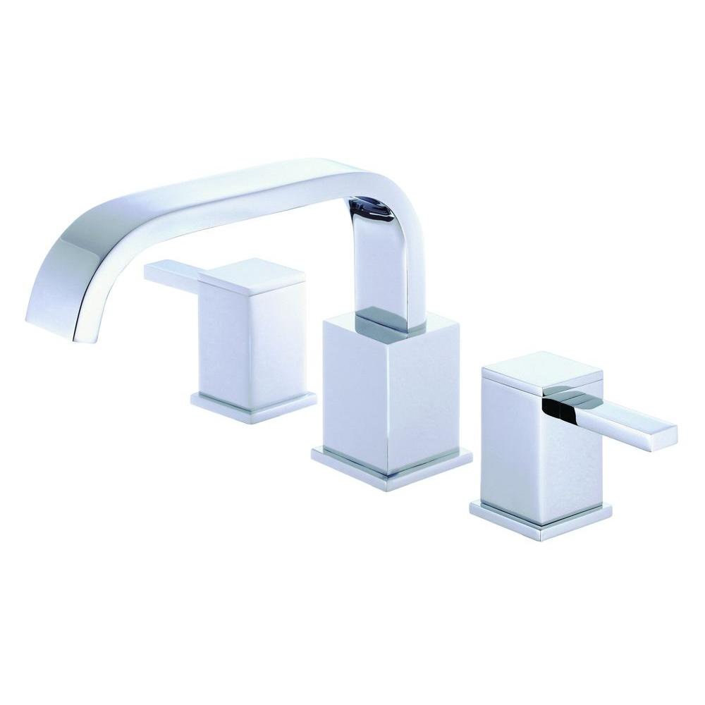 Danze Reef 2-Handle Deck-Mount Roman Tub Faucet Trim Kit in Brushed ...