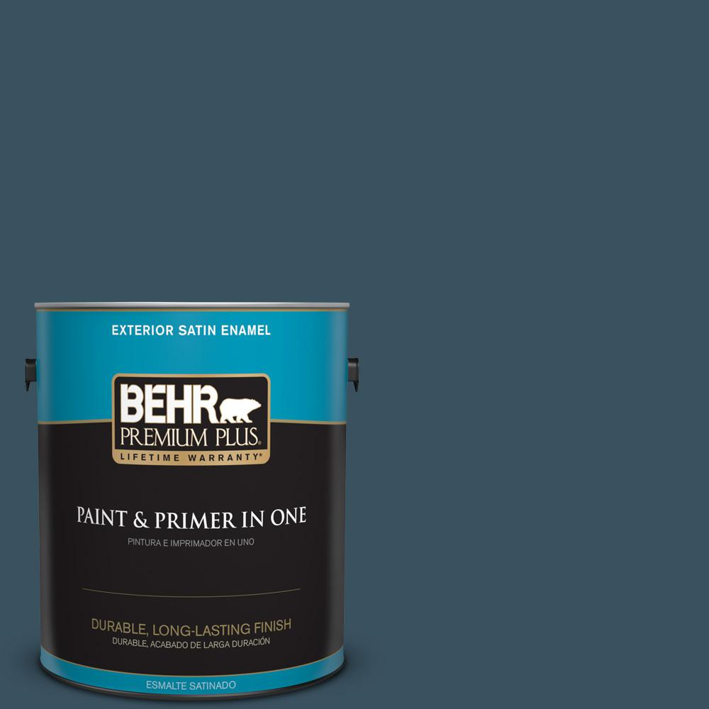 1 gal. #PPU13-20 Restless Sea Satin Enamel Exterior Paint