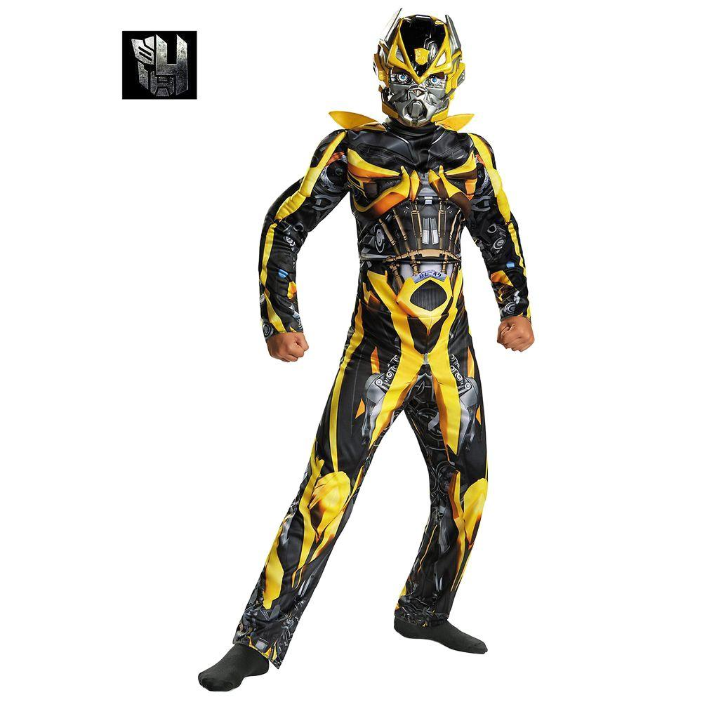 Disguise Boys Transformers 4 Bumblebee Classic Muscle Costume ... 4c6397cc5
