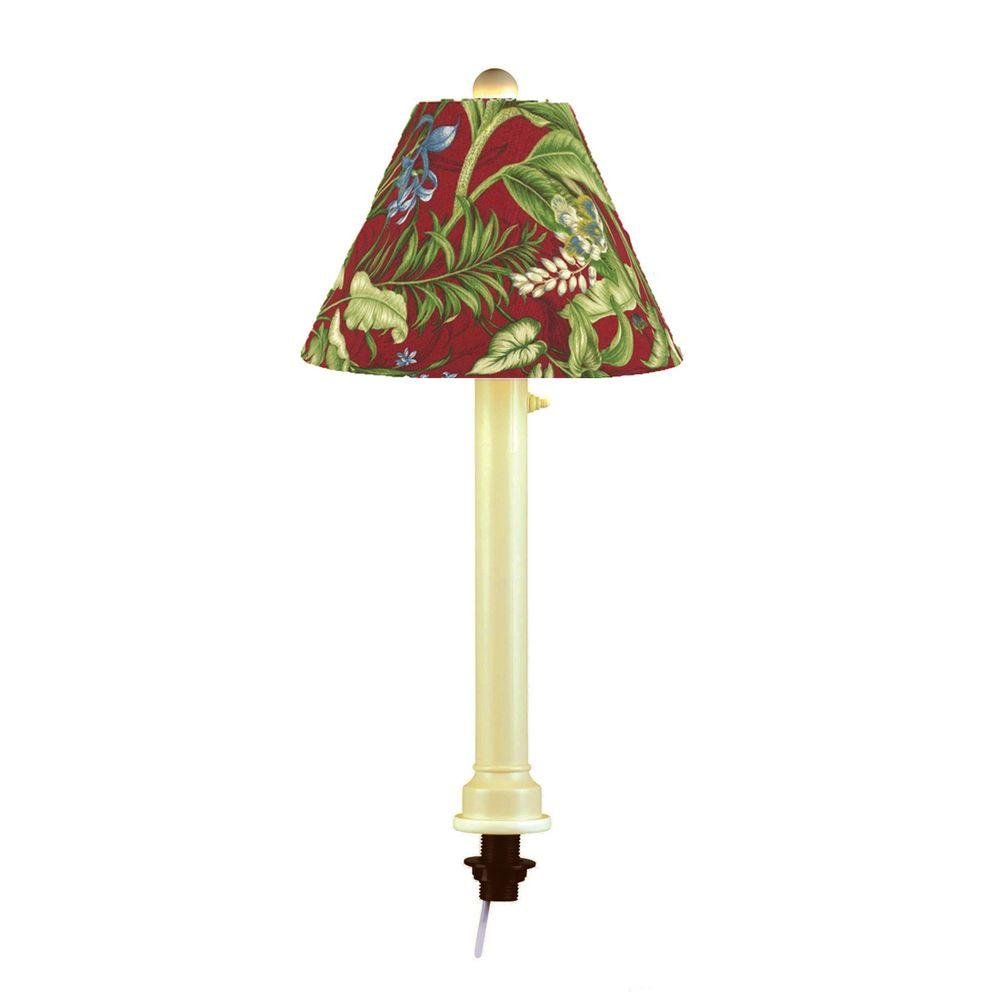 Patio Living Concepts Catalina 28 in. Bisque Umbrella Outdoor Table Lamp with Lacquer Shade