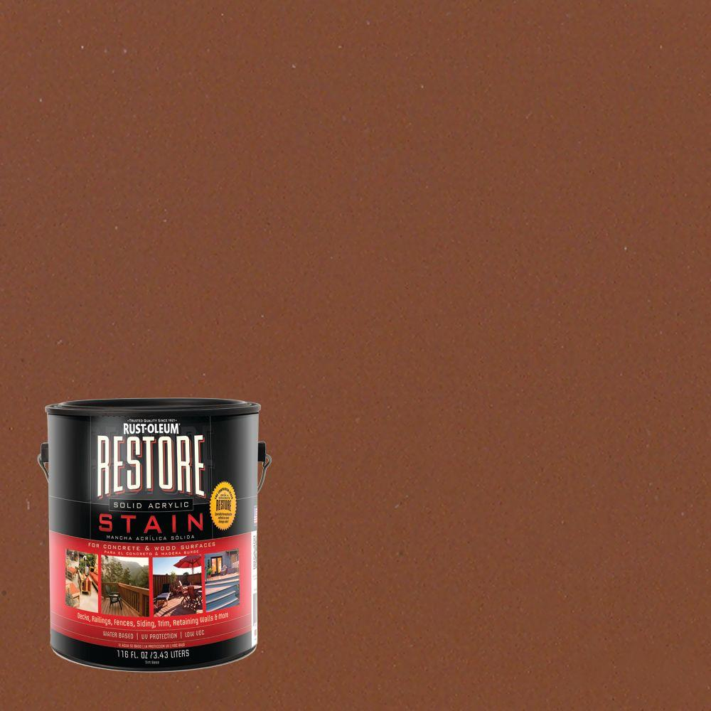Rust-Oleum Restore 1 gal. Solid Acrylic Water Based Timberline Exterior Stain