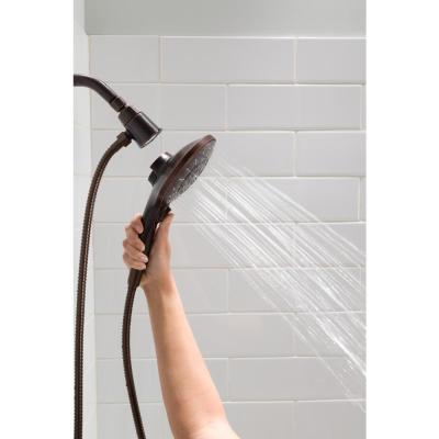 Engage 6-Spray 5.5 in. Single Tub Wall Mount Handheld Adjustable Shower Head in Oil Rubbed Bronze