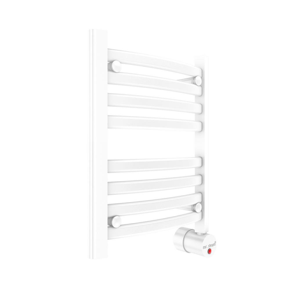 W216 8-Bar Wall Mounted Electric Towel Warmer with Digital Timer in