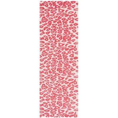 Kids Ivory/Red 2 ft. x 7 ft. Runner Rug