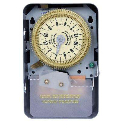 T1900 Series 20-Amp 24-Hour Mechanical Time Switch with Steel Indoor Enclosure - Gray