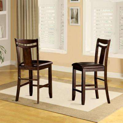 Barrington 24 In. Warm Brown Cushioned Bar Stool (Set Of 2)
