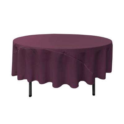 90 in. Round Eggplant Polyester Poplin Tablecloth