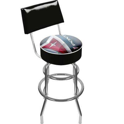 Pontiac 30 in. Chrome Swivel Cushioned Bar Stool