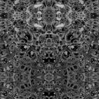 Mitchell Black ABRA Collection Pewter Kaleidoscope Removable and Repositionable Wallpaper