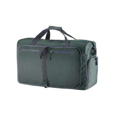 12 in. Green Folding Overnight Duffel Bag