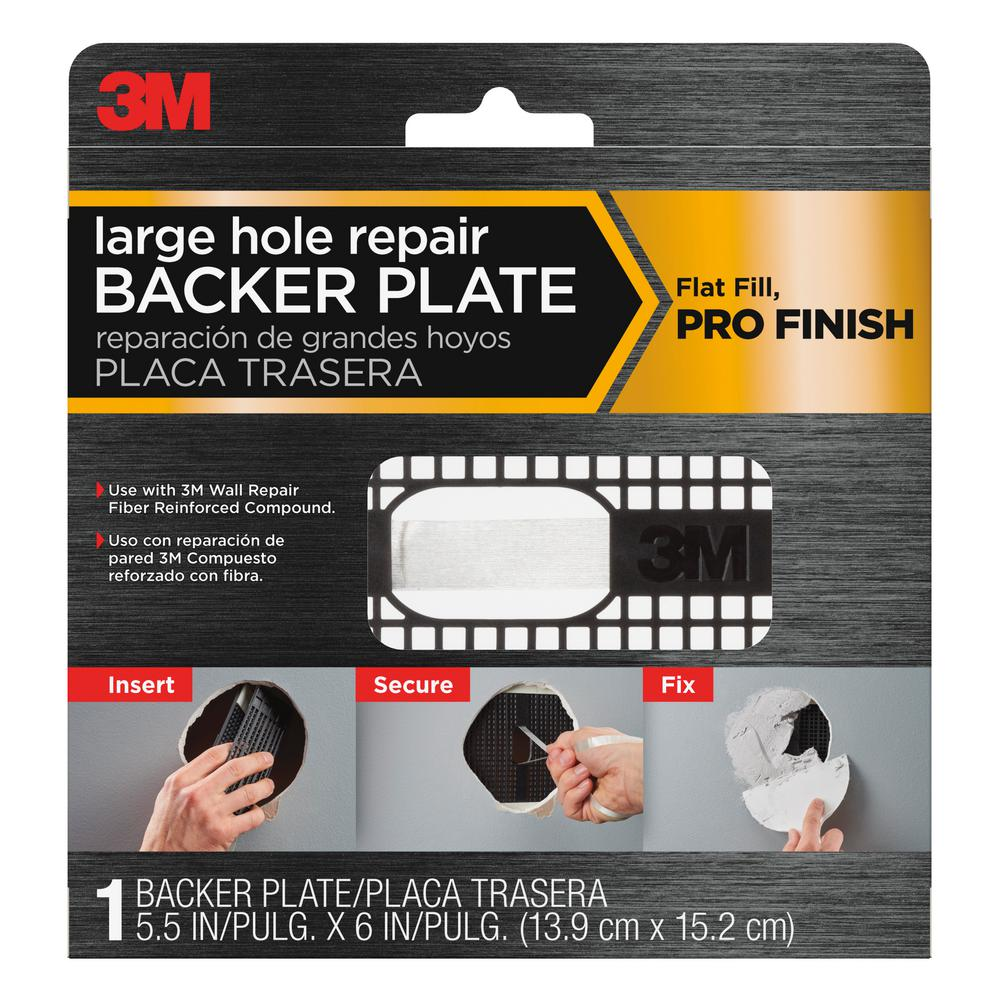 3m 6 in plastic wall repair backer plate rp6in 1pk the. Black Bedroom Furniture Sets. Home Design Ideas