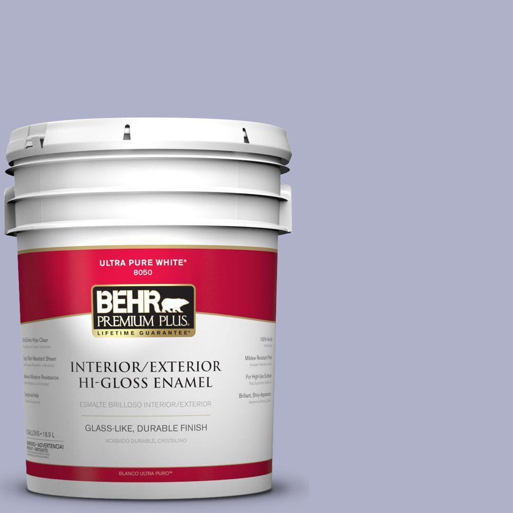 Purple Interior Paint: BEHR Premium Plus 5 Gal. #S560-3 Noble Purple Hi-Gloss