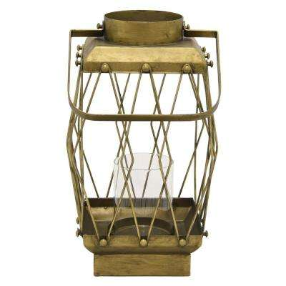 16.25 in. Metal Lanternin Gold