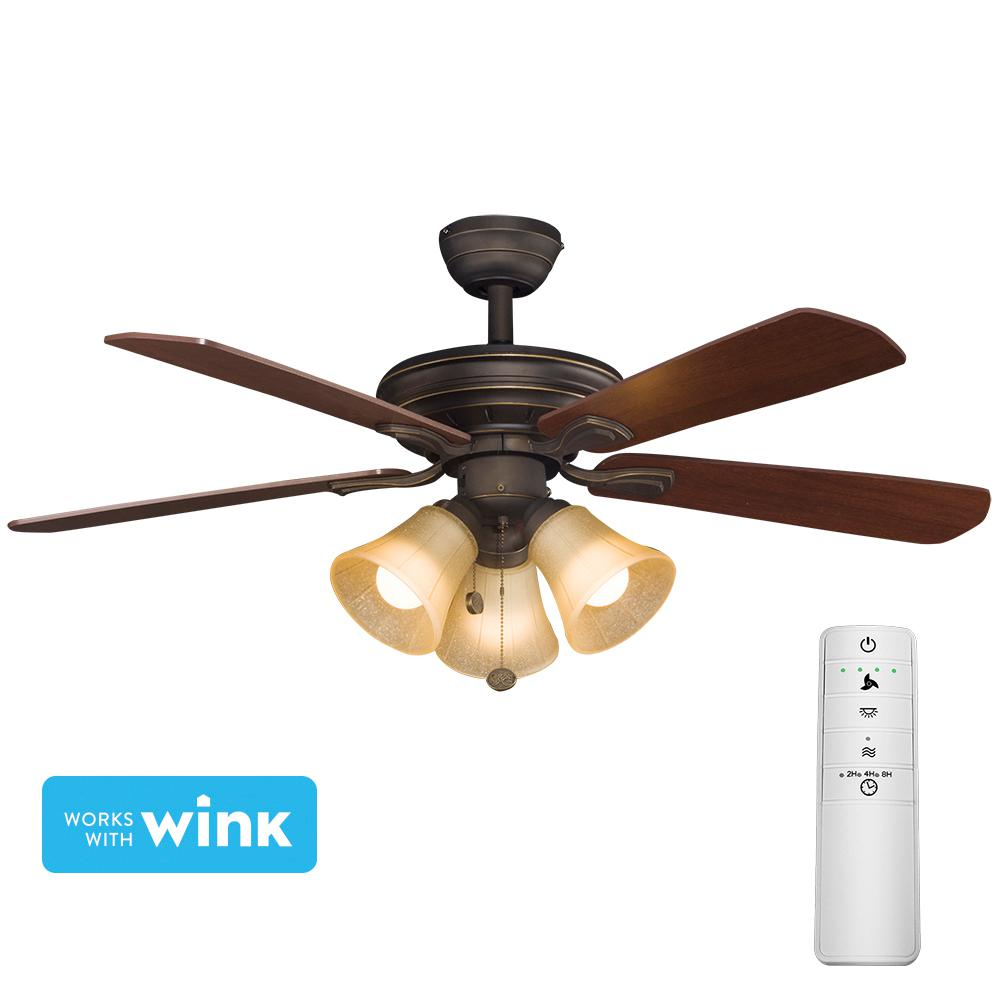Hampton Bay Westmount 44 In. LED Oil-Rubbed Bronze Smart