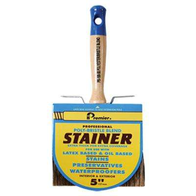 5 in. Polyester Bristle Blend Block Stain Brush (6-Pack)