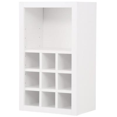 Hampton Bay Shaker Embled 18x30x12 In Wall Flex Kitchen Cabinet With Shelves And Dividers Satin White