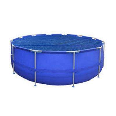 9 ft. x 9 ft. Blue Round Floating Solar Cover for Steel Frame Swimming Pool