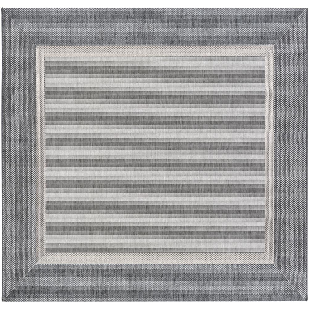 Couristan Recife Stria Texture Champagne Grey 8 Ft X 8 Ft