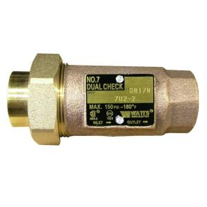 3 4 In Lead Free Brass Mpt Dual Check Valve Lf7u2 2 3 4 The Home Depot