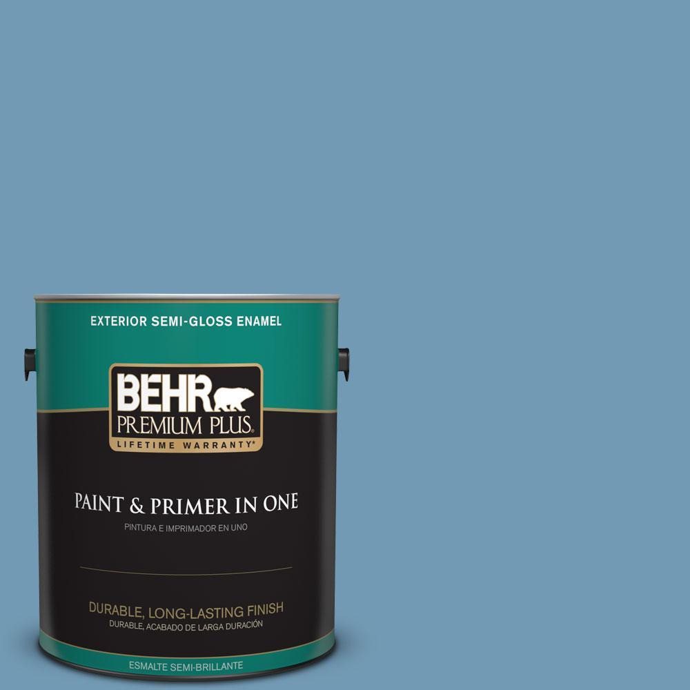 1-gal. #560D-5 Ocean View Semi-Gloss Enamel Exterior Paint