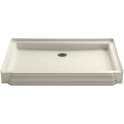 Memoirs 48 in. x 34 in. Single Threshold Shower Base in Biscuit