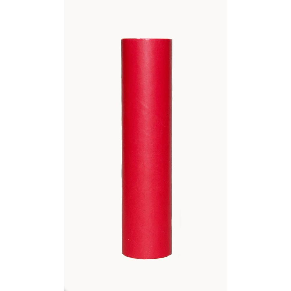 kaarskoker Solid 6 in. x 7/8 in. Apple Red Paper Candle Covers, Set of 2