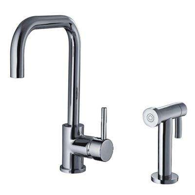 Jem Collection Single-Handle Side Sprayer Kitchen Faucet in Polished Chrome