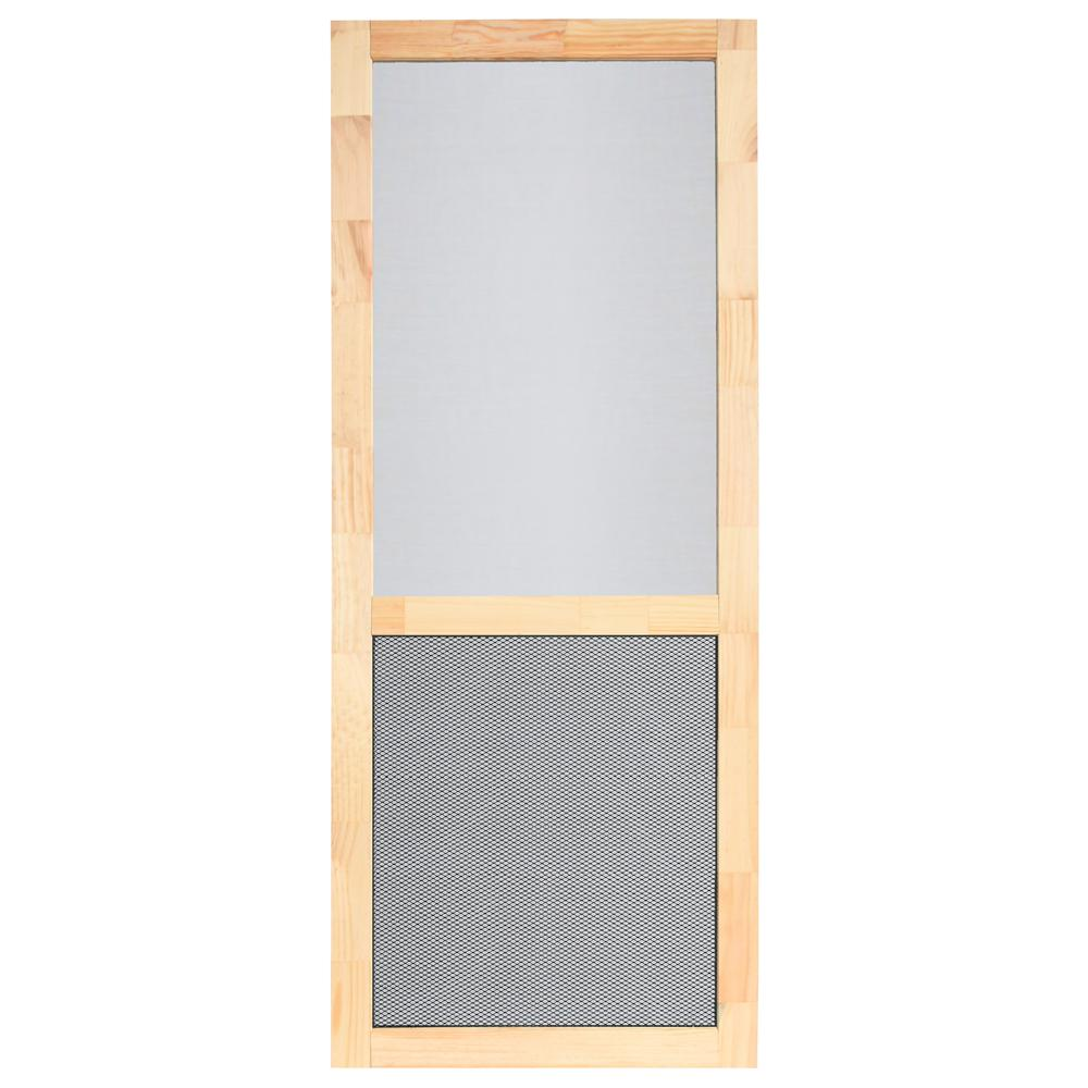 Superieur 32 In. X 80 In. Natural Wood Unfinished Screen Door