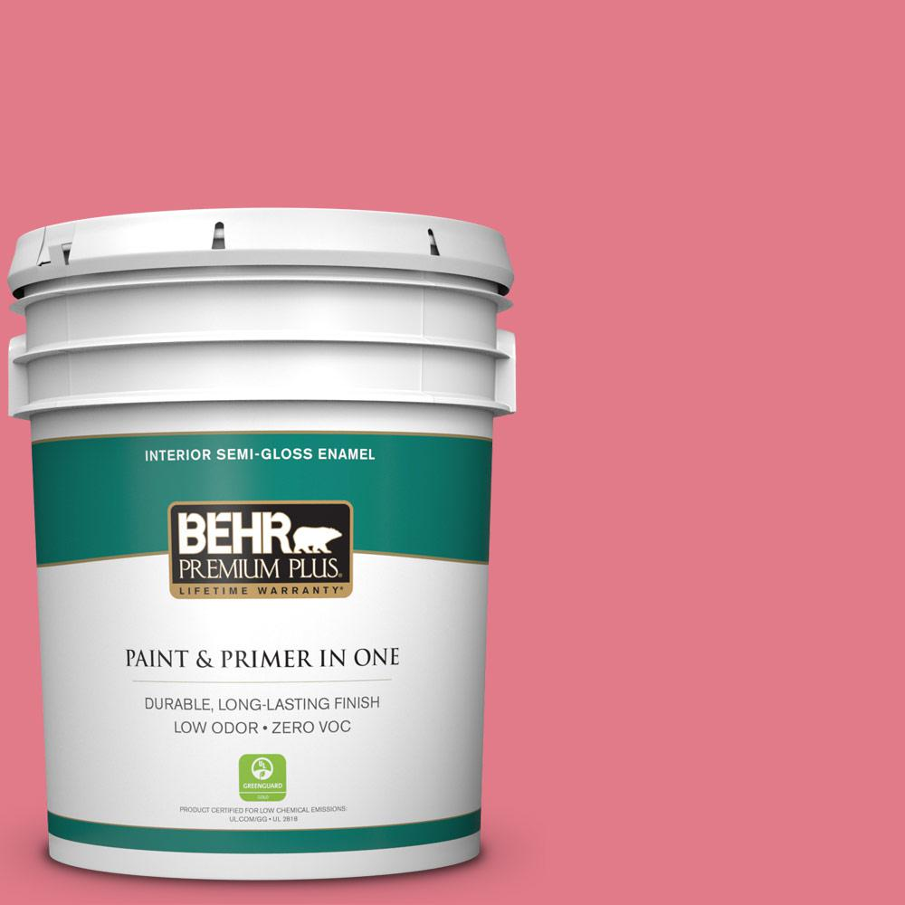 BEHR Premium Plus 5-gal. #P150-4 Hot Gossip Semi-Gloss Enamel Interior Paint